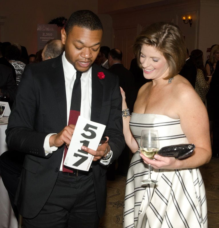 Glenn Marshall and gala co-chair Ally Donnelly. Photo by FayFoto Boston.