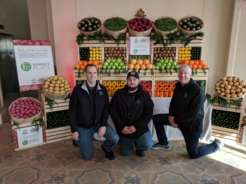 Michael Dwyer, Ryan Keyes & Joe Sullivan, from Fruit Center Marketplace spent hours setting up this amazing display.