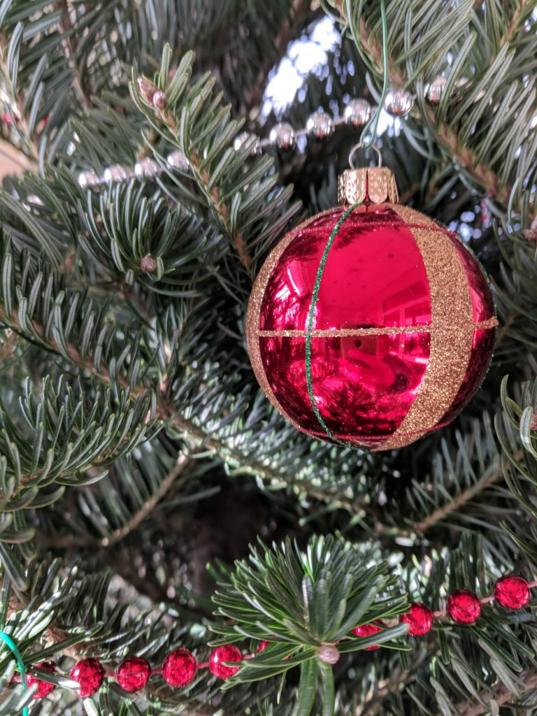 Decorated trees from Kennedy's Country Gardens