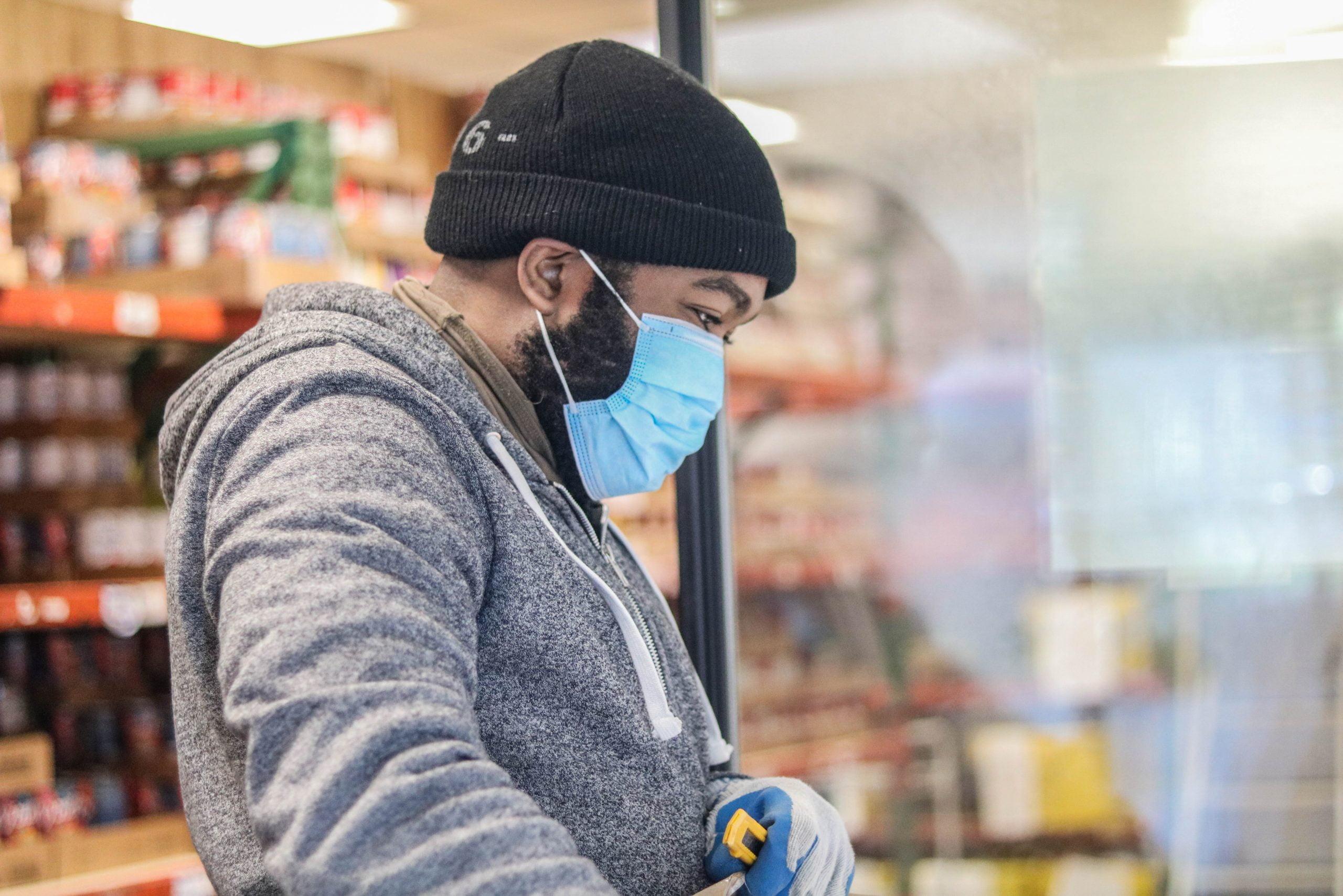 Volunteer in food pantry