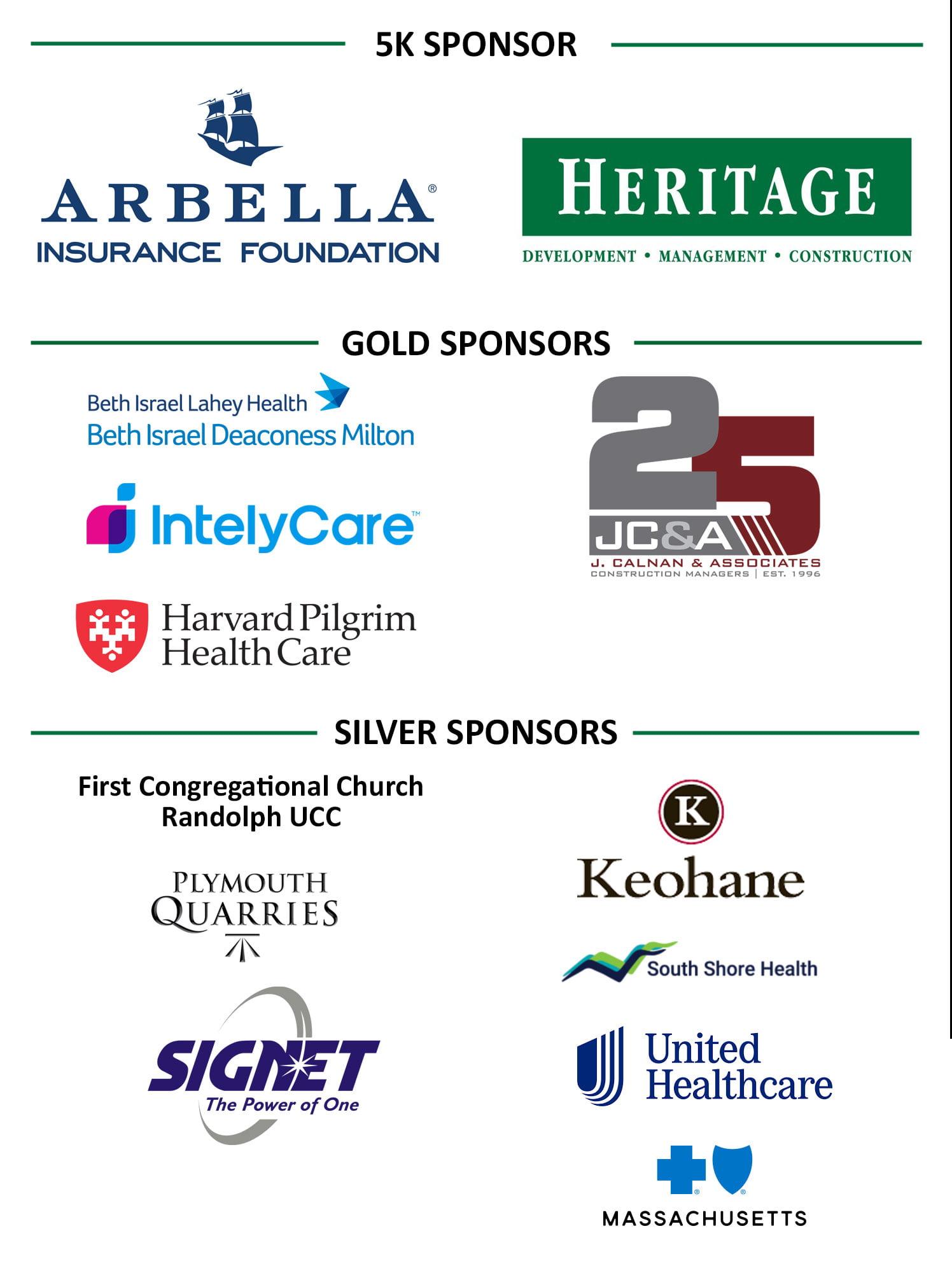 Stop the Stigma 5k sponsor logos