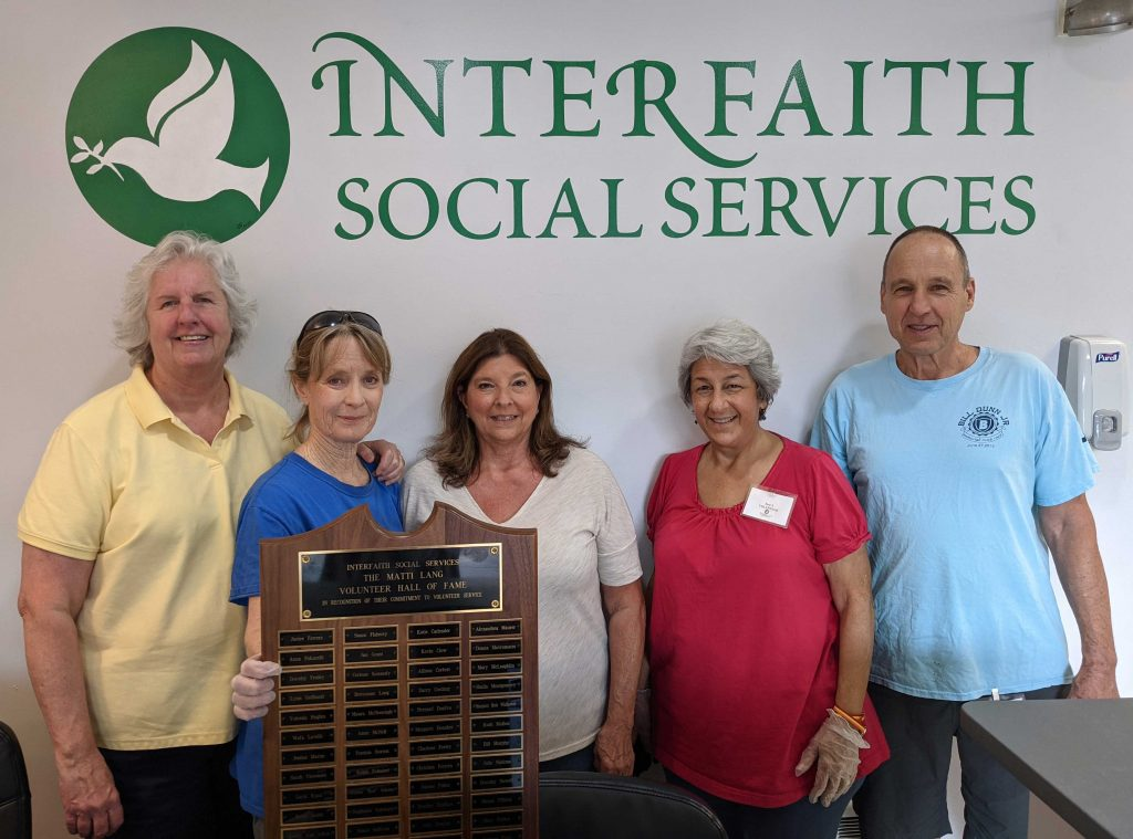 A group of Hall of Fame volunteers