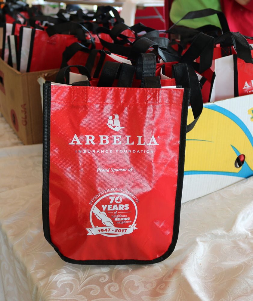 The Arbella/JetBlue swag bags contained goodies from J.P. Licks, Freeman Dental, Coola Suncare, KIND Snacks, Trimino and more.